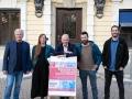 TIAG-Vorstand Alexander Bouvier (Mitte) mit den Künstlern