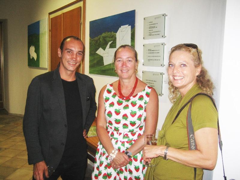 Rene Fadinger, Agnes Husslein-Arco (Direktorin des Belvedere und Enkelin von Herbert Böckl) Elisabeth Winkler